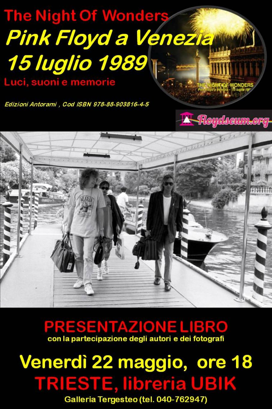 The Night of Wonders book presentation at Ubik, Trieste