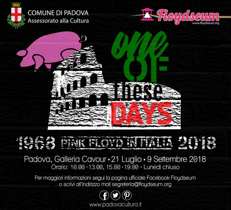 One of these days, Pink Floyd Live in Italia 1968/2018